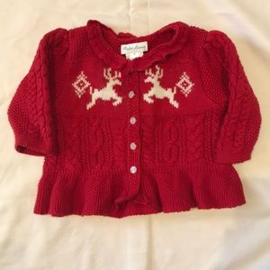 Ralph Lauren layette Christmas sweater